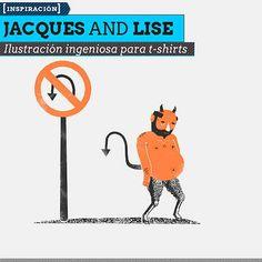 Ilustración ingeniosa para t-shirts de JACQUES AND LISE Ilustración y diseño de estilo vintage e ingenioso.  Leer más: http://www.colectivobicicleta.com/2013/07/Ilustracion-de-JACQUES-AND-LISE.html#ixzz2Ys7WZowX