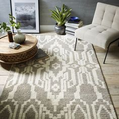 West Elm offers modern furniture and home decor featuring inspiring designs and colors. Create a stylish space with home accessories from West Elm. Home Design, Interior Design, Interior Modern, My Living Room, Home And Living, Living Area, West Elm Rug, Style Deco, Modern Area Rugs