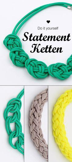 DIY Statement Ketten selbst Knoten. Einfache Anleitung auch für Anfänger.