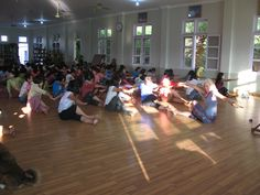 dancing and teaching in Myanmar for Brighten Foundation