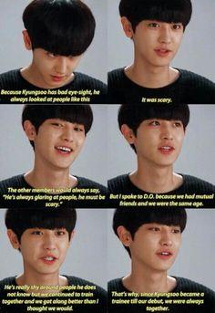 Chanyeol speak about Kyungsoo Shinee, My Life Is Boring, Exo Lockscreen, Chansoo, Exo Ot12, Exo Memes, Kpop Exo, Wholesome Memes, Best Friends Forever