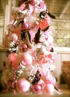 pink tree.....Love this!!