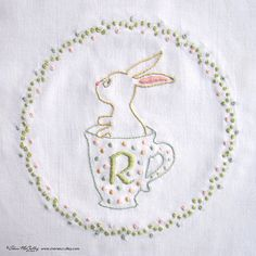 Embroidery Pattern PDF R is for Rabbit In a от sherimcculley