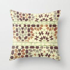 Pillow Cover Moroccan Tiles Travel Photography by StudioYuki