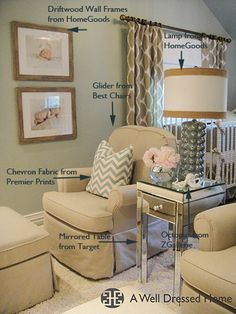 Twin's Nursery Specifications @ A Well Dressed Home