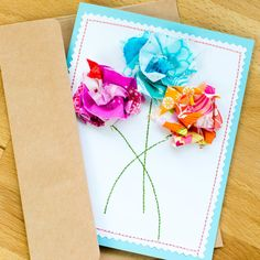 Scrap fabric Mother's Day Cards