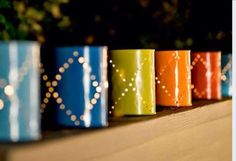 Try punching holes in your paint pots to make fabulous tea lights