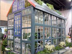 Glass Recycling for Greenhouse Designs, Garden Houses Built with Salvaged Wood Windows Old Window Greenhouse, Small Greenhouse, Greenhouse Wedding, Greenhouse Ideas, Pallet Greenhouse, Homemade Greenhouse, Portable Greenhouse, Backyard Greenhouse, Wooden Greenhouses