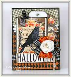 Hey there Peeps! I have another great Halloweeny card to share today. I'm so inspired by the fabulous trims Bonnie brought in to RRR that I just can't help myself : ) For this card I used Black Pla...