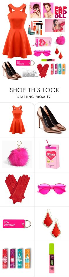 """Bright lady 💖"" by stephanie98ann ❤ liked on Polyvore featuring Chicnova Fashion, Alexander Wang, Torrid, Gizelle Renee, Various Projects, Kendra Scott, Avon and Maybelline"