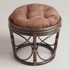 Java Microsuede Papasan Stool Cushion | World Market