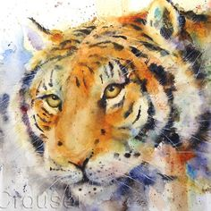 TIGER Large Watercolor Print By Dean Crouser by DeanCrouserArt, $75.00