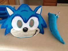 Sonic mask and tail for dress up
