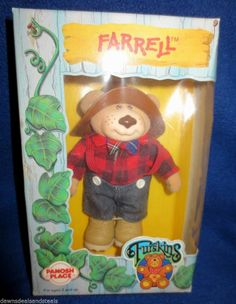 "VINTAGE 1986 FURSKINS ""FARRELL"" ACTION FIGURE TOY! NIB 5 1/2"" Rare Collectible"