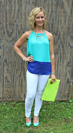 July Stitch Fix Review - Papermoon Marciela Halter Top and Street Level Kala Crochet Clutch