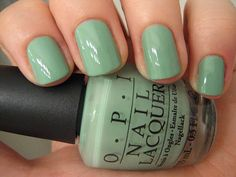 really into light nail polish colors right now... OPI Mermaid's Tears