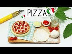 polymer clay Pizza Baking Scene TUTORIAL   polymer clay food - YouTube