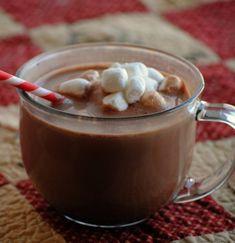 The Farm Girl Recipes: Homemade Hot Chocolate Mix Homemade Hot Chocolate, Hot Chocolate Mix, Hot Chocolate Recipes, Chocolate Chips, White Chocolate, Wedding Food Bars, Sweet Coffee, Hot Cocoa Mixes, Sweet Breakfast