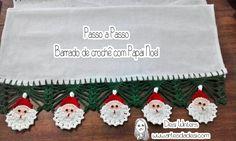 Artes da Desi: Passo a passo Barradinho de Papai Noel de crochê - http://www.artesdadesi.com/2015/12/passo-passo-barradinho-de-papai-noel-de.html