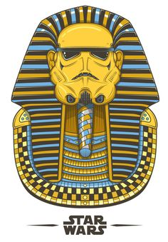 For you World History and Ancient History Teachers out there: Egypt inspired Stormtrooper Star Wars art by Neil Hanvey