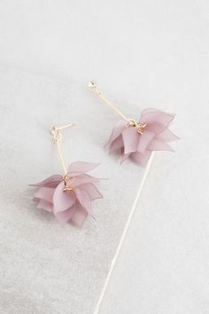 Lily of the Incas Drop Earrings | Mauve $14