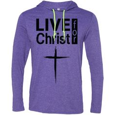 Christian Hoodie - Live For Christ - 987 Anvil