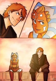Just Anakin and Ahsoka by Renny08.deviantart.com on @DeviantArt