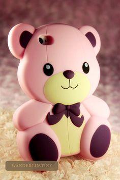 Teddy Bear iPhone 4/4s Case I want it's soooo cute!!!! ❤