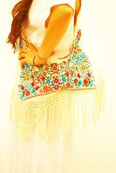 La Bohemia Mexican Bag Hippie Fringes Messenger Purse