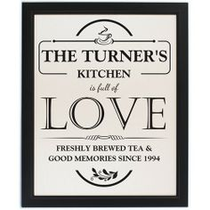 Personalised Full of Love Framed Print  from www.personalisedweddinggifts.co.uk :: ONLY £24.99