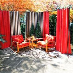 Terrace Ideas, Balcony Ideas, Patio Ideas, Backyard Ideas, Outdoor Ideas,  Garden Ideas, The Balcony, Outdoor Projects, Outdoor Curtain Rods