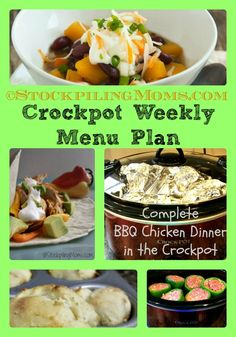 Crockpot Weekly Menu Plan - FREE for you to help you save time and money!