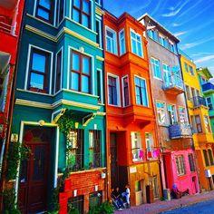 Colorful Buildings ❤ Balat/Istanbul/Turkey - @Tom John John John John John John Gorton- #webstagram