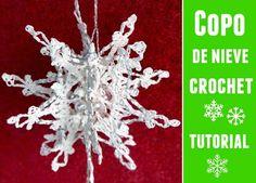 Copo de Nieve tridimensional crochet patron - Patrones Crochet