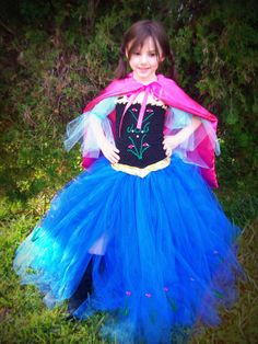 """Anna from """"Frozen"""" inspired tutu dress costume on Etsy! Anna Dress Frozen, Frozen Tutu, Elsa Dress, Dress Up, Tutu Costumes, Halloween Costumes, Frozen Birthday Party, Frozen Party, Tutus For Girls"""