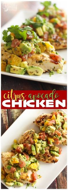 This Citrus Avocado Chicken has a bright, summery flavor! I love the sweet tangy citrus flavor combined with the smooth, cool avocado. via @favfamilyrecipz
