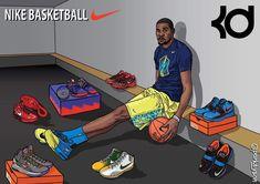 Bryant Basketball, Basketball Art, Funny Basketball Memes, Durant Nba, Kevin Durant Shoes, Nba Pictures, Basketball Photography, Nba Wallpapers, Sneaker Art
