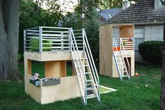 Modern Modular Eco-Friendly Indoor and Outdoor Playhouses for Kids.