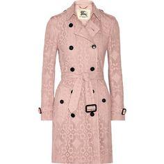 Burberry London The Kensington crocheted cotton-blend trench coat