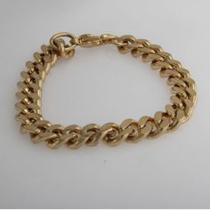 "Goldtone Curb Chain with Lobster Clasp 6"" Bracelet  #jewelryauctionhouse #Chain"