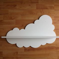 And what if i use a cloud wall sticker an a simple white shelf?