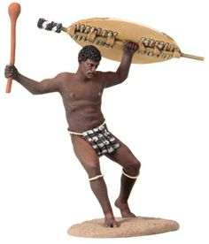 Zulu & British Wars 20159 Zulu Warrior Casualty Falling Backward #1 - Made by Britain's Military Miniatures and Models. Factory made, hand assembled, painted and boxed in a padded decorative box. Excellent gift for the enthusiast.