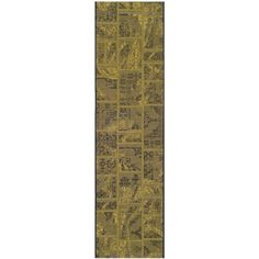 Palazzo Black/Green 2 ft. x 7 ft. 3 in. Runner