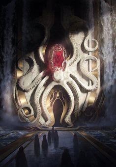 """Hidden"" by Alexey Trishkin . by Daily Fantasy Art Fantasy Artwork, Fantasy Art Landscapes, Fantasy Concept Art, Fantasy Landscape, Fantasy City, Fantasy Places, Fantasy Kunst, High Fantasy, Fantasy World"