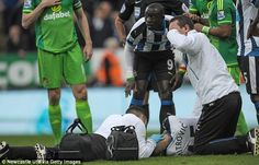 Aleksander Mitrovic received medical attention after losing consciousness from a clash of heads with ...