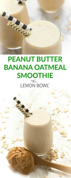 Ripe bananas and natural peanut butter create an addictive, salty-sweet flavor combo in this protein-packed Peanut Butter Banana Oatmeal Smoothie– perfect for breakfast or any time of the day. Banana Oatmeal Smoothie, Banana Oats, Smoothie Recipes Oatmeal, Banana Milkshake, Smoothie Bowl, Peanut Butter Oatmeal, Natural Peanut Butter, Peanut Butter Shake, Pastries