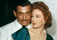 Clark Gable and Susan Hayward in Soldier of Fortune (1955).