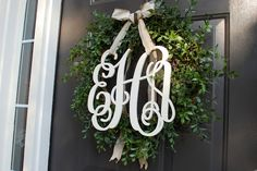 The Halls: Monogrammed Wreath