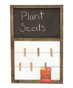 Take a look at this Wooden Chalkboard by Garden Accessories Collection on #zulily today!