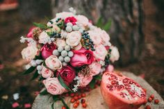 осенний букет невесты #wedding #rustic #свадьба #декор #рустик #осень #fall #оформление #букет_невесты